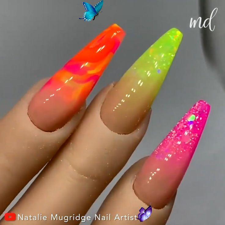 Summer Nails Videos Summer Nails Videos Nails Summer Nails Videos Nails Summer Nails Color In 2020 Summer Acrylic Nails Bright Summer Acrylic Nails Neon Nails