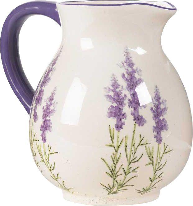 "8"" Lavender Water Pitcher - Faux Floral Favorites on Joss & Main"