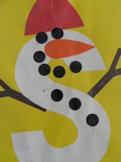 S Is For Snowman The Vintage Umbrella Preschool Alphabet Projects Q Z