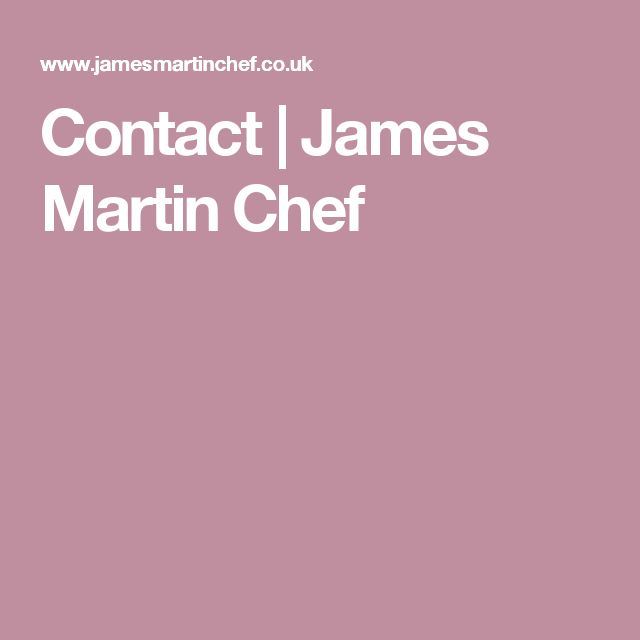 Contact | James Martin Chef