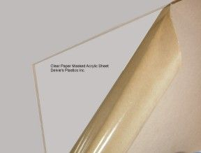 "1/8"" Crystal Clear Cell Cast Plexiglass Sheet at delviesplastics.com"