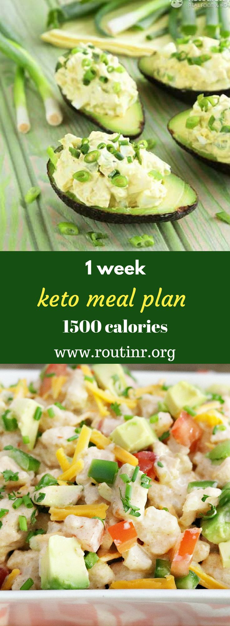 Keto Meal Plans: 1 week keto meal plan 1500 calories. A ketogenic diet, or keto diet, is a very low-carb diet, which turns the body into a fat-burning machine. It has many potential benefits for weight loss, health and performance, but also some potential initial side effects. Find out more at:https://routinr.org/routines/1-week-keto-meal-plan-1500-calories