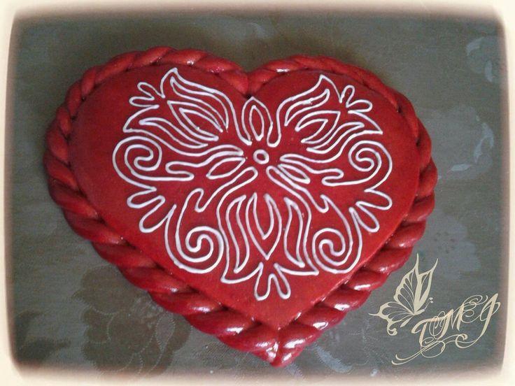 Hungarian folk art heart by TMJcreative.