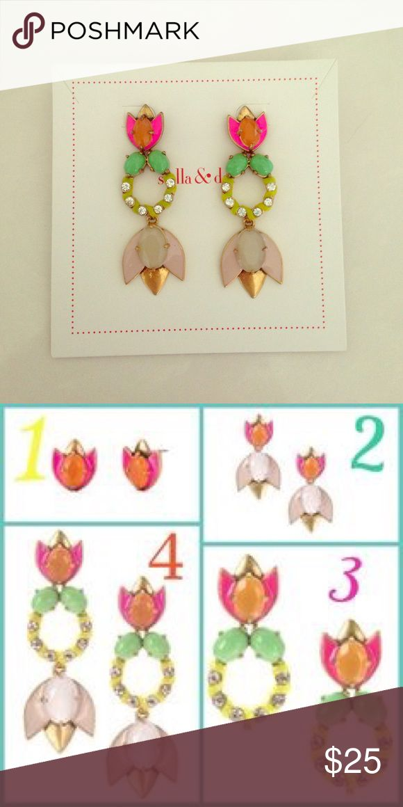 Stella & Dot Tropicana 4-in-1 Earrings Add a splash of color to your wardrobe with these tropical chandelier earrings. Can be worn four different ways. Stella & Dot Jewelry Earrings
