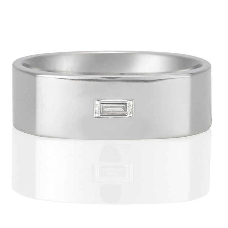 Mens Wedder ... Nicholas Haywood Jewellery Concierge - Baguette Ring, $2,700.00 (http://nhjc.mybigcommerce.com/18ct-white-gold-baguette-ring/)