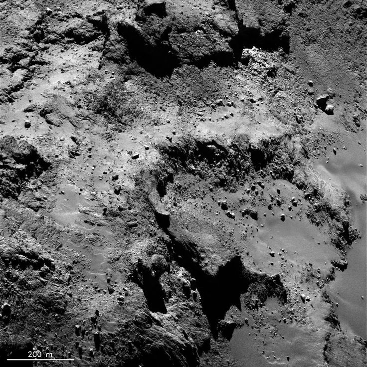 High-resolution images from ESA's Rosetta spacecraft reveal an incredible array of surface features on the comet. Imhotep (side)