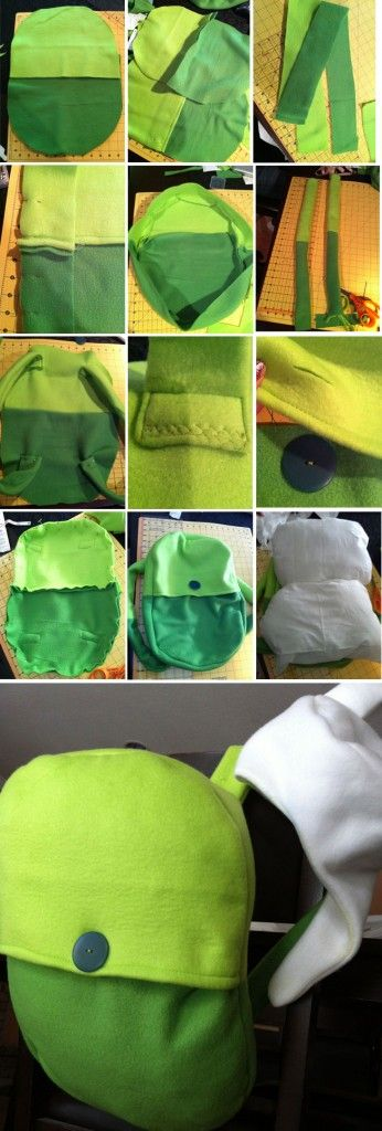 DIY: Adventure Time Finn Backpack Tutorial. Of course I find this right after Halloween. No SuPrIsE there D: