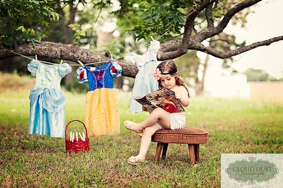 Little princess. Is this not the cutest photoshoot ever?!
