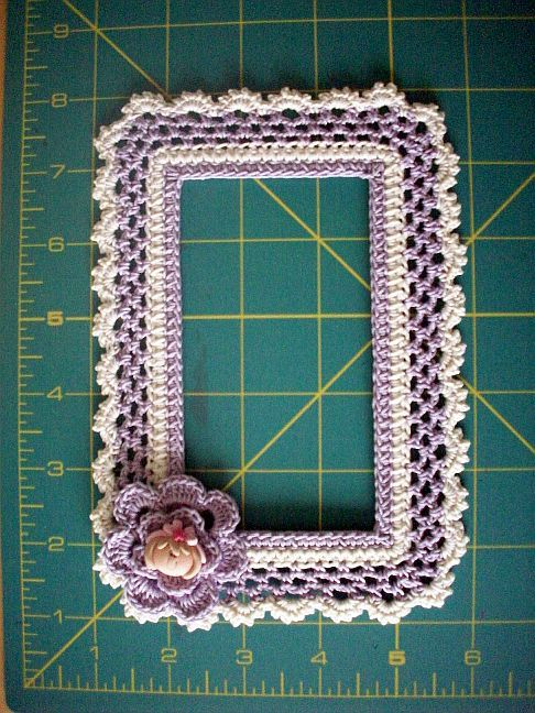 Every once in a while a handcrafted embellishment comes along that leaves you in awe. That was my reaction after doodle-crocheting my photo frame collection consisting of crochet stitches and...