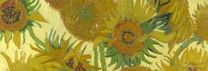 Detail from Sunflowers (1888) by Vincent Van Gogh