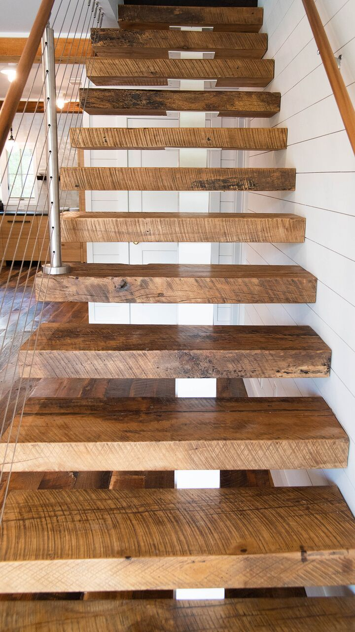 Reclaimed Wood Flooring Real Antique Wood Wood Stairs   Reclaimed Wood Stair Treads   White Oak   Wood Plank   Straight Edge Wood   Lumber   Adhesive Padding 31 Wide Tread Single 10 Deep