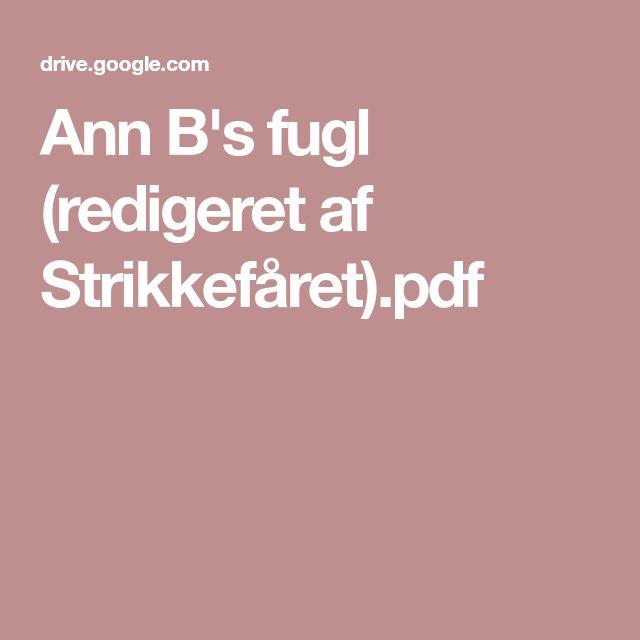 Ann B's fugl (redigeret af Strikkefåret).pdf