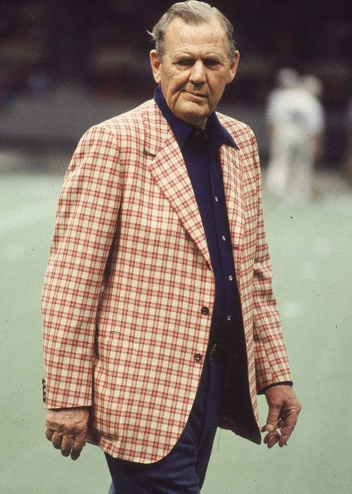 Legendary football coach, Paul 'Bear' Bryant. Six National Championships. Never been nothin' but a winner! ~ You'll also want to check out ~ RollTideWarEagle.com ~ great sports stories, audio podcast and FREE on line tutorial of college football rules. #CollegeFootball #RollTide #Alabama