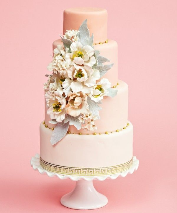 Rustic Floral Wedding Cake by 'The Caketress' in Toronto - Canada's Prettiest Wedding Cakes For 2013 (weddingbells)