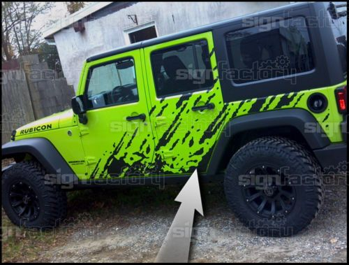2007 2008 2009 2010 2011 2012 2013 Jeep Wrangler Vinyl Decal Graphic Splash | eBay