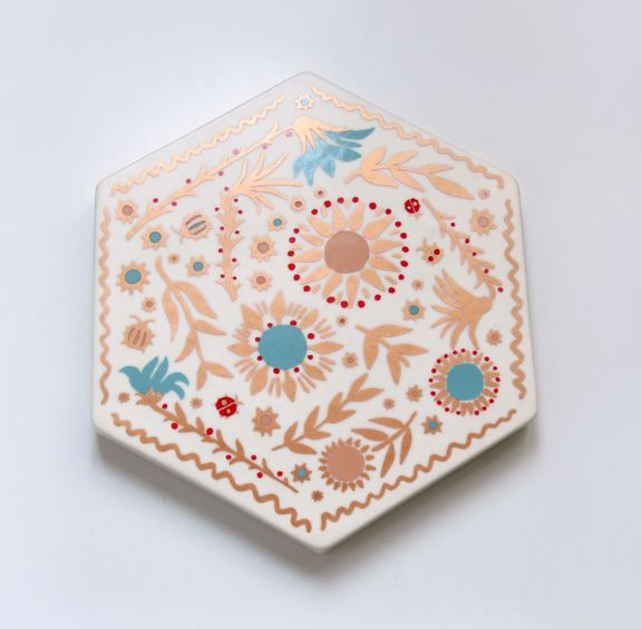 Nice Floral Trivet By Xenia Taler