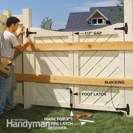 how to build a garden fence and gate