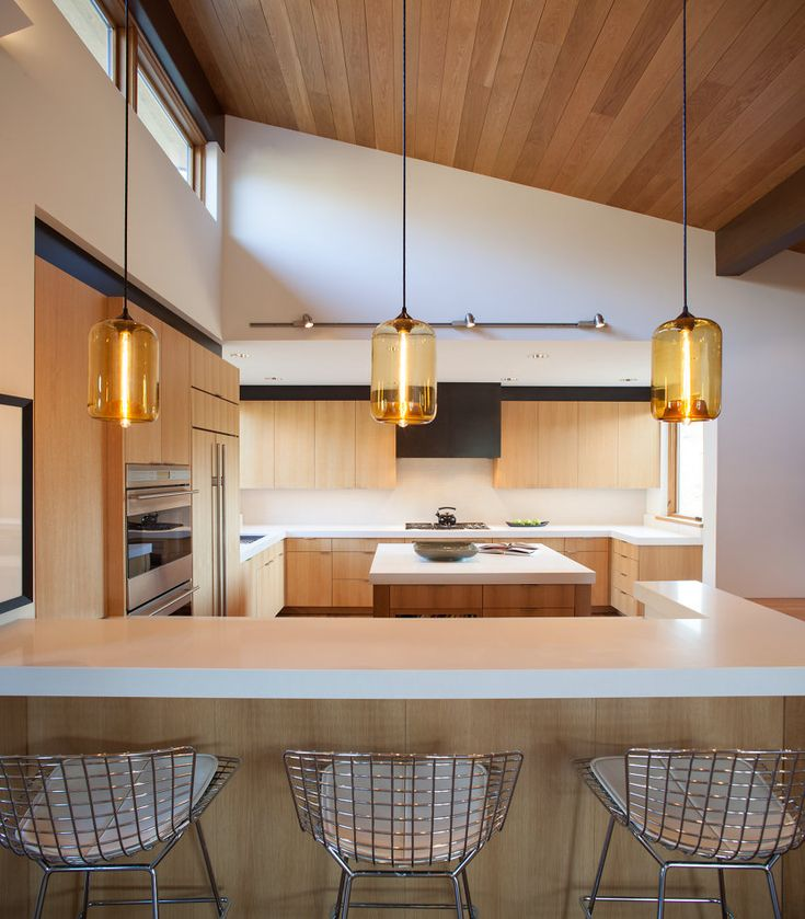 159 best kitchen lighting images on pinterest kitchen lighting our pod pendant lights in amber glass really complement the golden glow of this sun aloadofball Choice Image