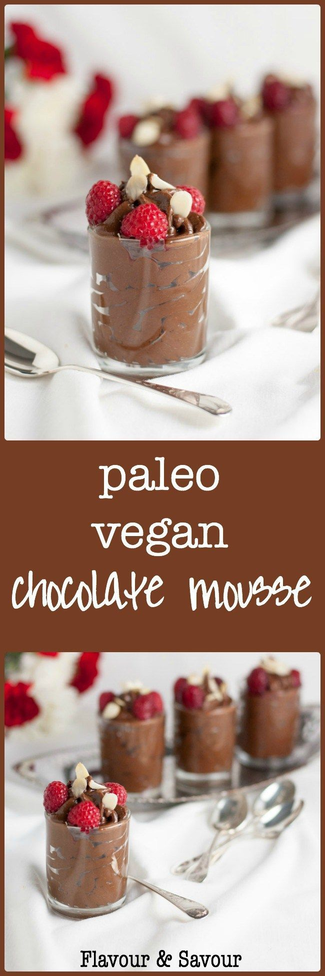 Paleo Chocolate Mousse. Dairy-free and Vegan too. This chocolate mousse is silky smooth, decadent and delicious. Made with avocado, cacao (or cocoa) and naturally sweetened, it's guilt-free.