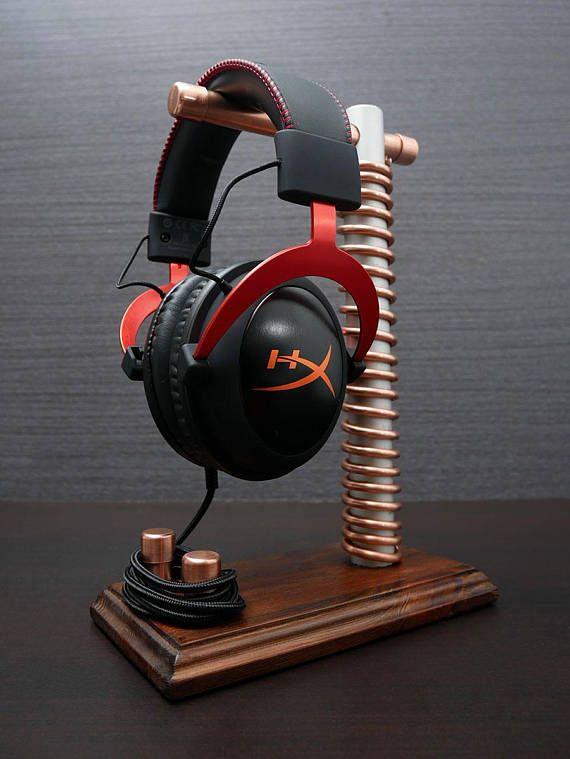 Karma V1.0. Headphone Stand, Gift for Husband, Gift for Him, Gift for Men, Headphone Hanger, Headset Stand, Headphone Holder, Tech Gift, Headphone Rack, Headset Display, Headphone Station, Gamer Gifts --------------- --------------- ---------------  Karma, the handmade copper