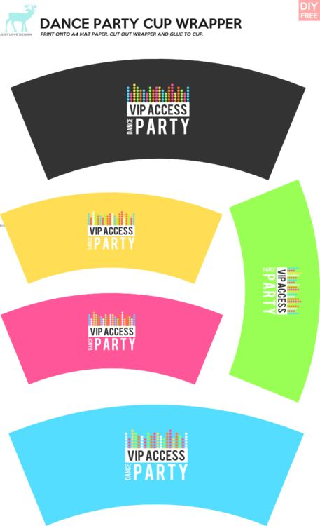 DIY FREE DANCE PARTY CUP WRAPPERS - JustLoveDesign