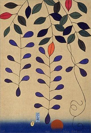 花札想 四月 - 粟津潔 (Reflections on Japanese Playing Cards: April - Kiyoshi Awazu) by erma