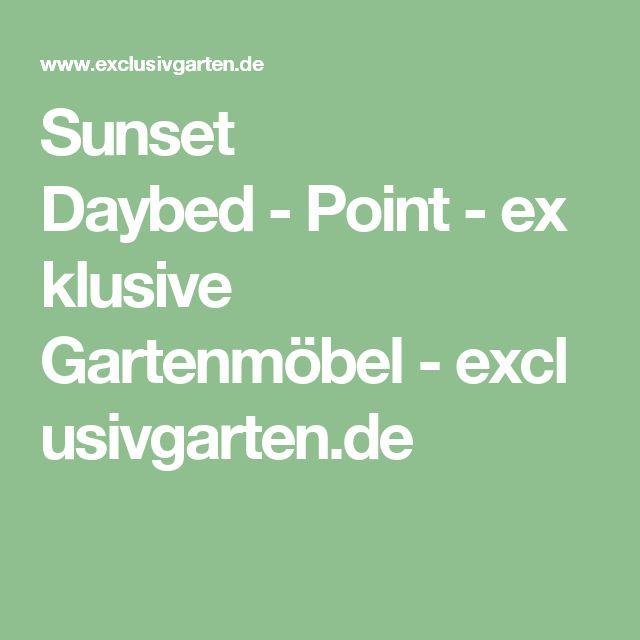 Sunset Daybed   Point   Exklusive Gartenmöbel   Exclusivgarten.de