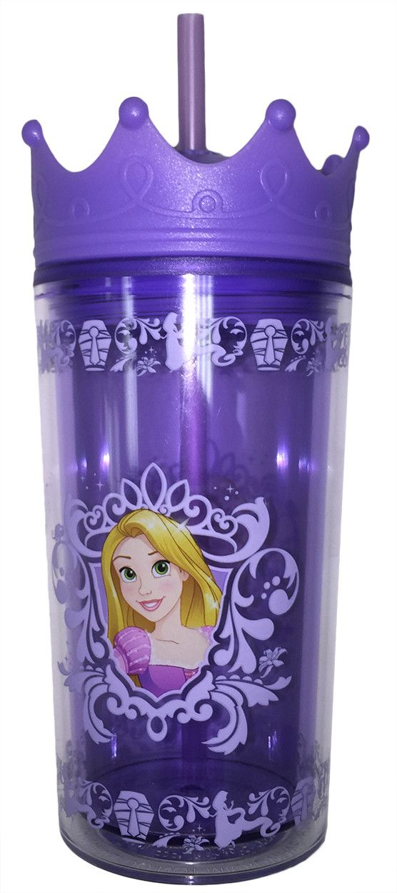 Disney Princess Double Wall Tumbler with Crown Lid