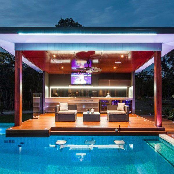 Die 50 Besten Hinterhof Bar Ideen Für Den Garten Coole Wasserlöcher Tatowierungen Modern Outdoor Kitchen Outdoor Remodel Backyard Kitchen