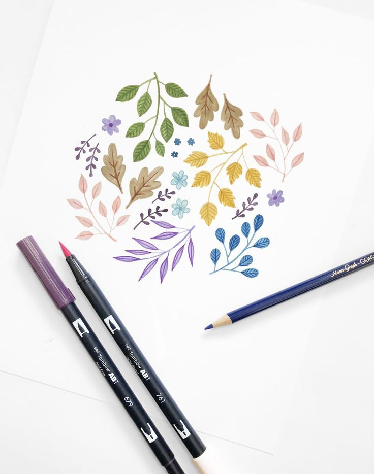 Create This Floral Illustration With Tombow Dual Brush Pens And