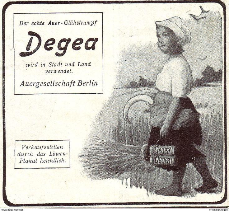 Original-Werbung / Anzeige 1907 - AUER GLÜHSTRUMPF DEGEA - Ca. 80 X 75 Mm - Werbung