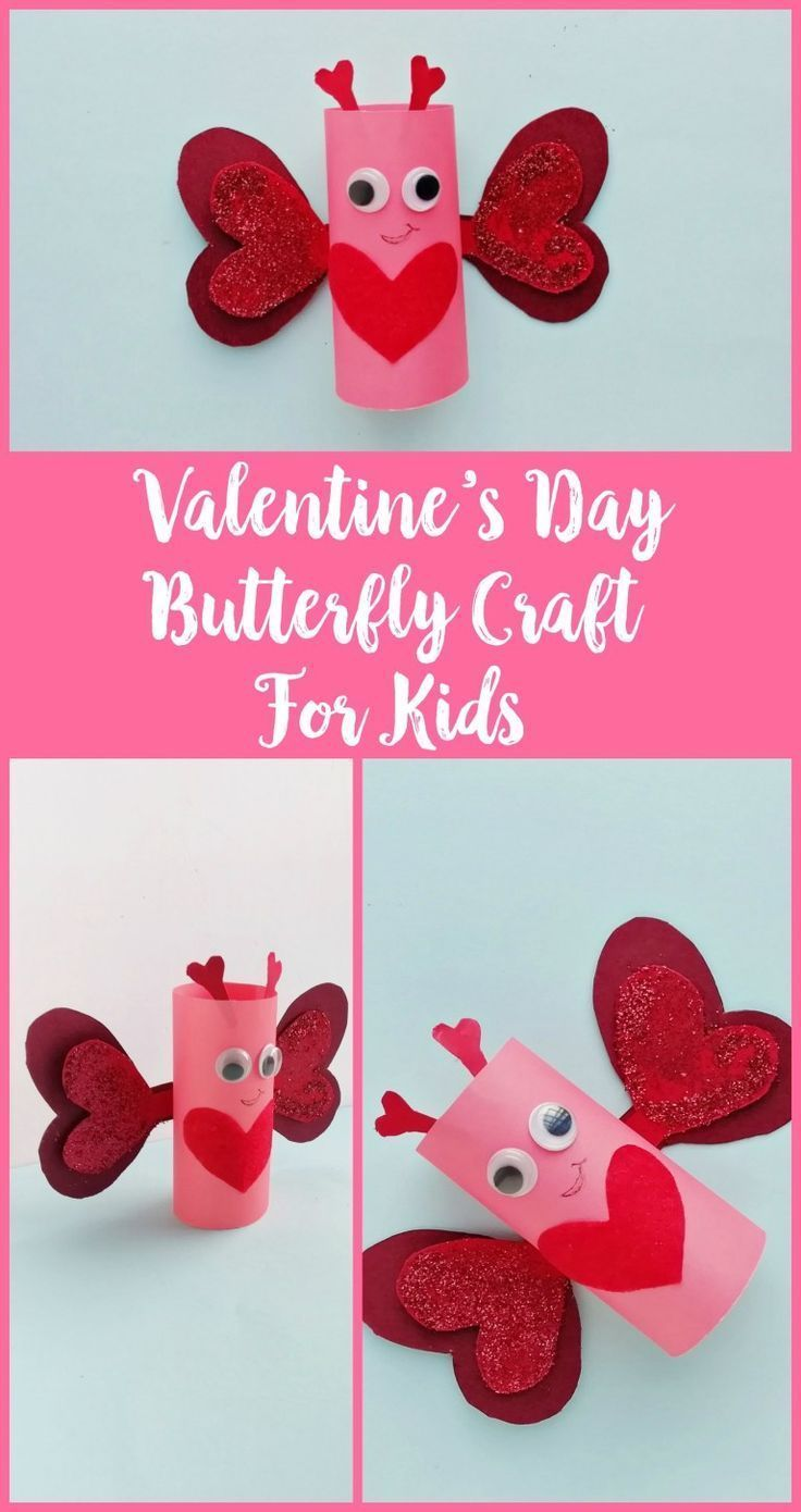 DIY Valentine's Day Butterfly Craft For Kids – #Butterfly #Craft #Day #DIY #kids…