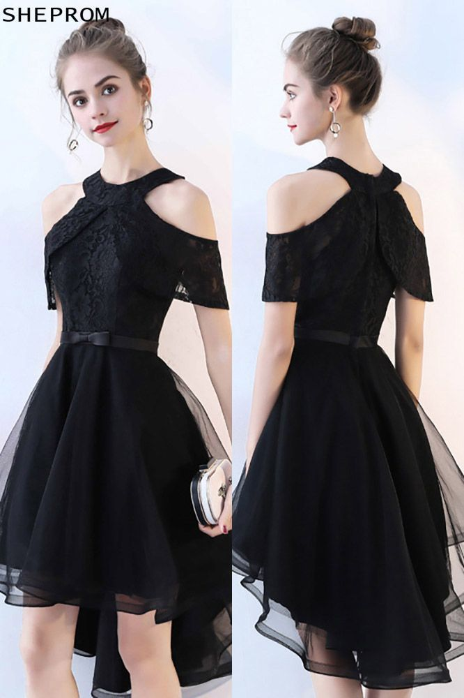 Chic Black Tulle High Low Homecoming Prom Dress Short Dresses Trendy Dress Styles Trendy Dresses