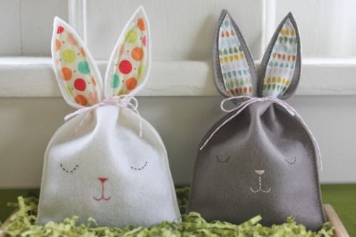 The sweetest easter bags from probablyactually.wordpress.comTreats Bags, Goodies Bags, Fashion Style, Felt Bags, Bunnies Goodies, Easter Bunnies, Bunnies2 5269, Sleepy Bunnies, Bunnies Bags