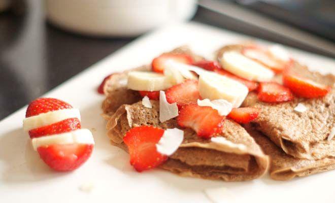 Proteïne pannenkoeken met cacao