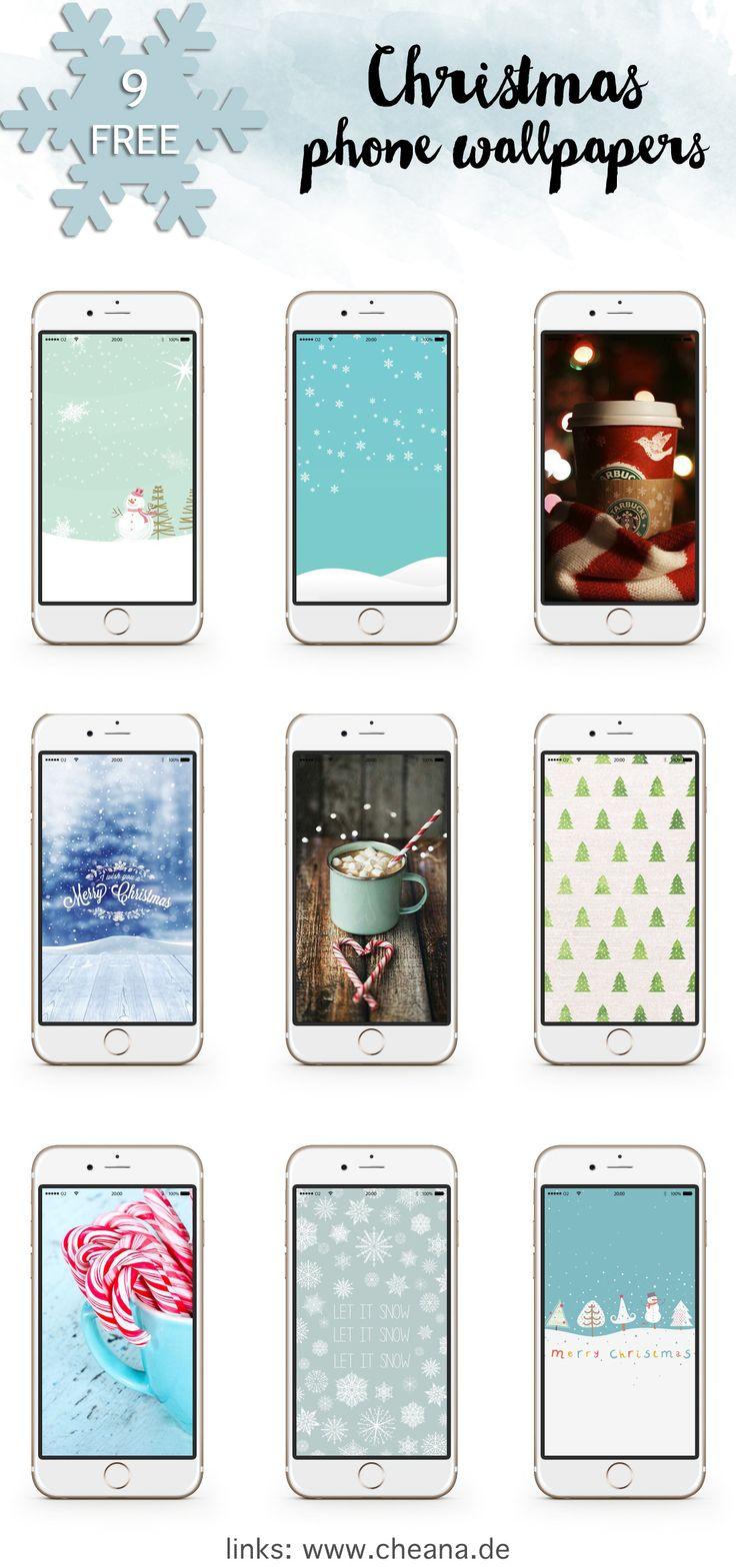 9 kostenlose Hintergrundbilder für euer Smartphone | 9 free Christmas Wallpapers for iPhone & Android phones