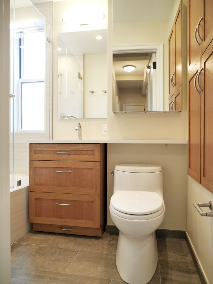 Bathroom Vanity Extended Over Toilet: Small Space Bathroom Solutions