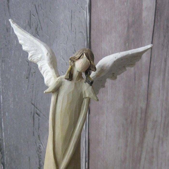 Peaceful Angel In Green Dress