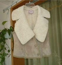 Женщины в винтажный искусственный мех жилет жилет хаки цвет L163(China (Mainland))