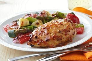 Grilled Chicken with Savory Summer Vegetables recipe #dinner