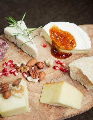 Friday afternoon: enticing cheese plate + wine. Yes please!