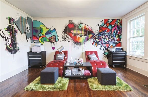 Best 25 graffiti bedroom ideas on pinterest graffiti room where is wall s - Decoration mural salon ...