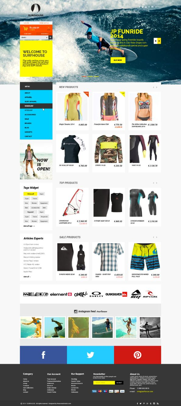 20 supers templates de site E-commerce en PSD