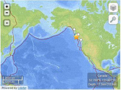 "Tectonic Summary of ""Masset"" Canada Earthquake 2012 | #GeologyPage"