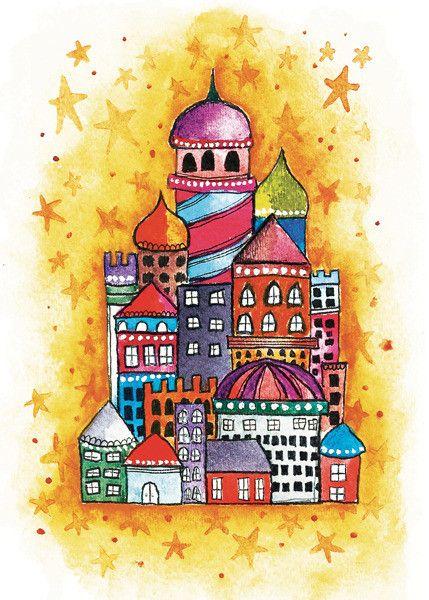 Alisa Burke — magic city 8 x 10 matted art print