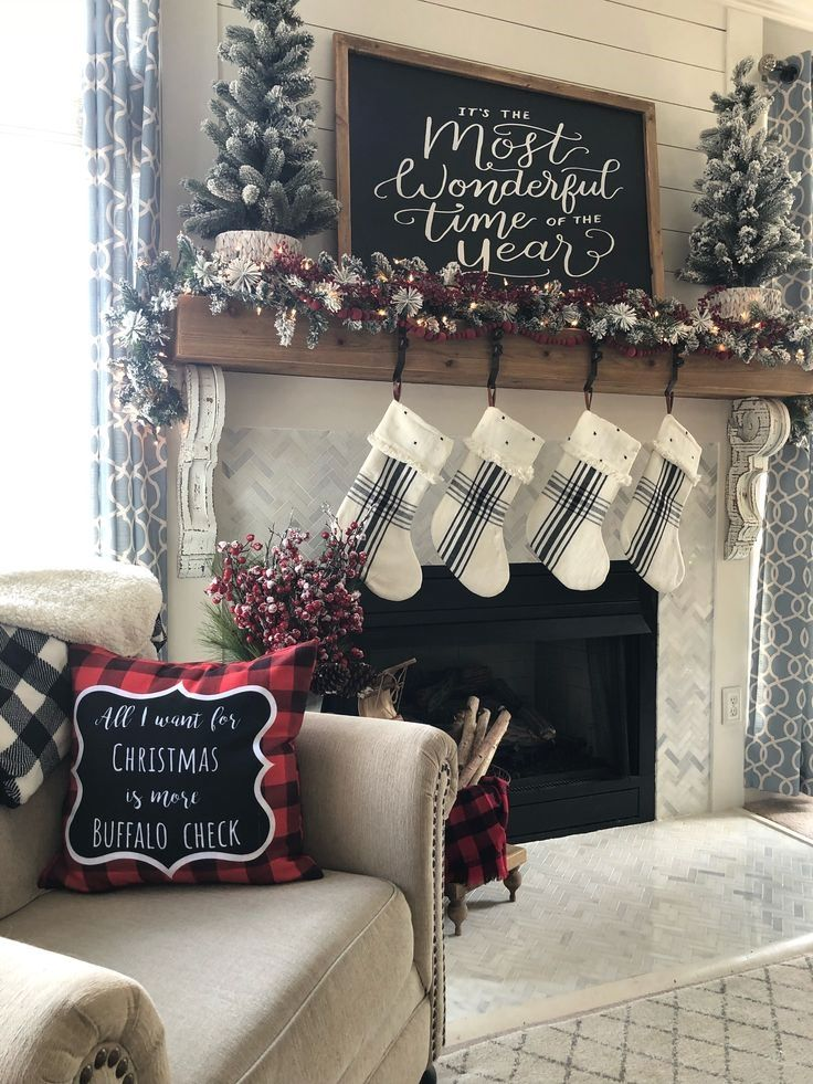 Buffalo Check Christmas Gift Guide With 10 Must Haves Wilshire Collections In 2020 Christmas Fireplace Decor Christmas Fireplace Christmas Gift Guide
