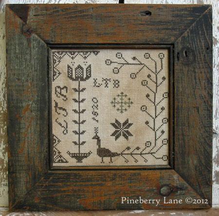 pineberry laneCrosses Stitches Pattern, Primitives Stitches, Embroidery Crosses, Pineberry Lane, Sampler Pattern, Lydia Broom, Broom Sampler, Cross Stitch Patterns, Primitives Crosses