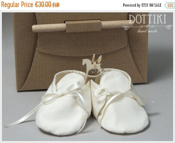ON SALE Baby Boy Christening Shoes Silk or Cotton by DOTTIKI