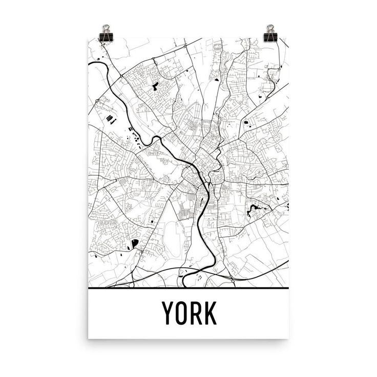 York England Map, Art, Print, Poster, Wall Art From $29.99 - ModernMapArt