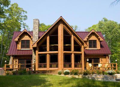 29 best metal buildings homes images on pinterest metal for Log siding house plans